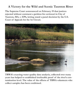 A Victory for the Scenic Taunton River